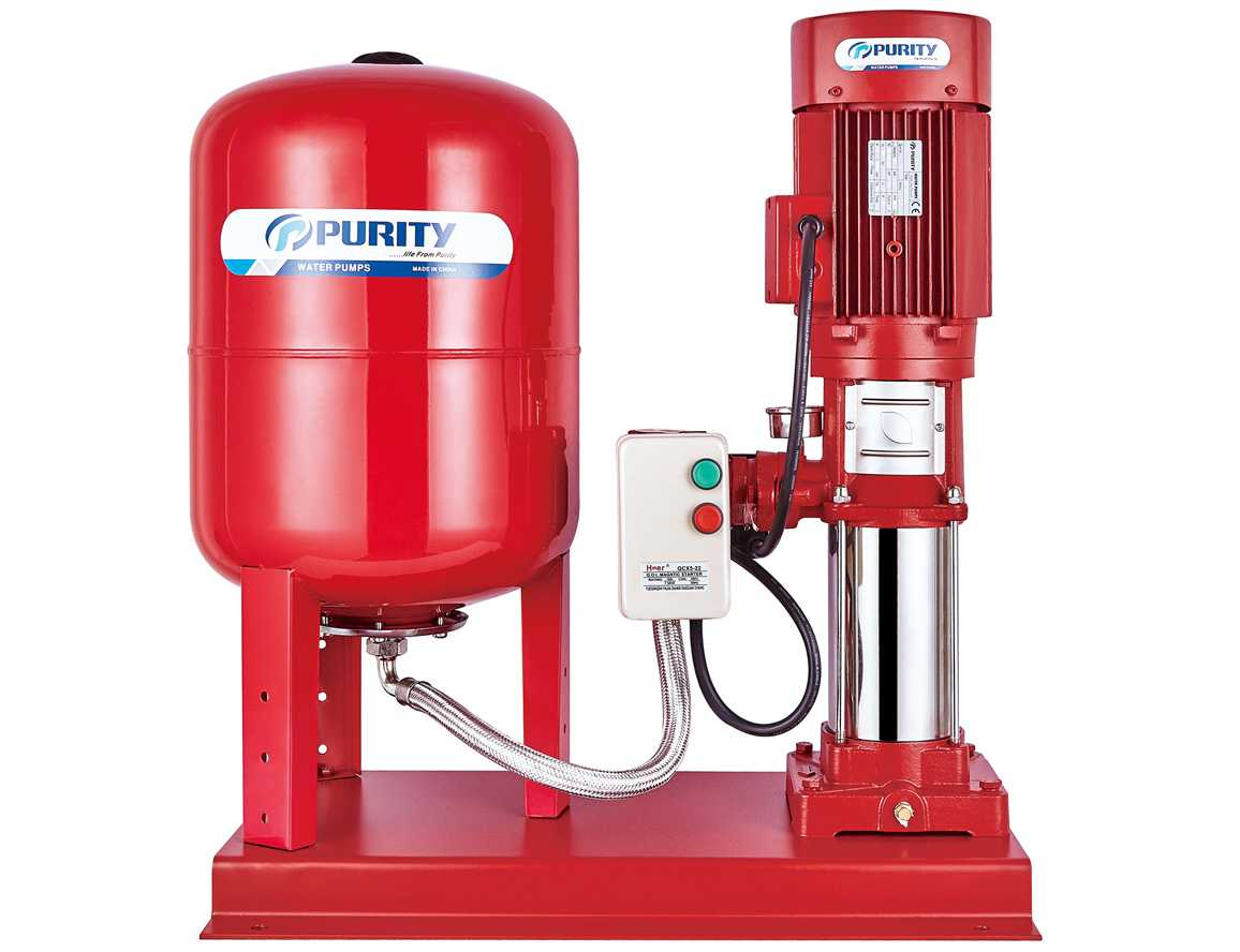 PVT Multistage Jockey Pump with Air Pressure Tank