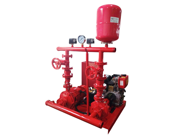 PEDT Fire Pump Set Double Impeller Pump with Pressure Tank