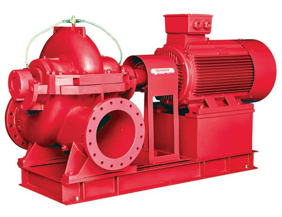 PSCMF Double Suction Split Case Centrifugal Fire Pump With Electric Motor