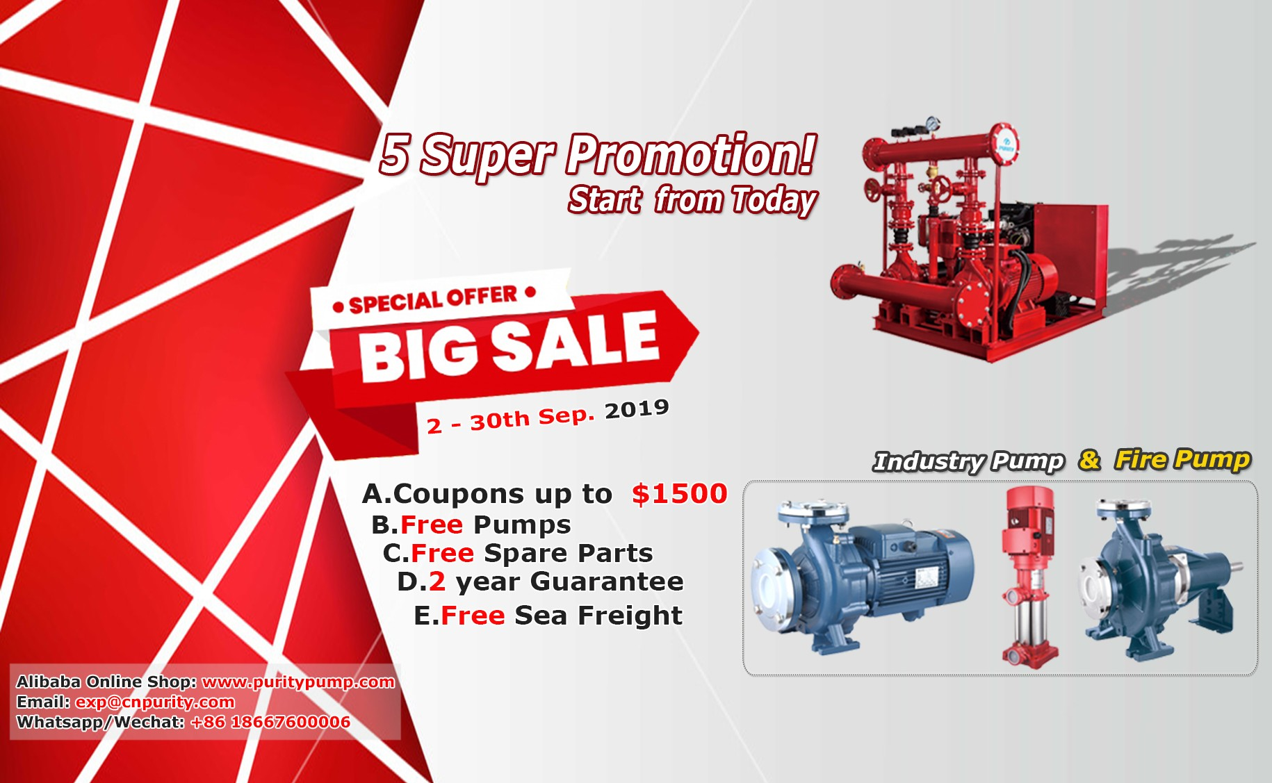 5 Super Promotion Start From Today!