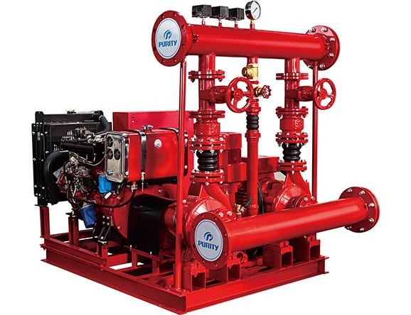 Fire Pump Set with Electric Diesel and Jockey Pump