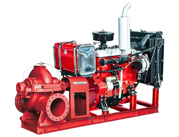 PSCD series split case pump with diesel engine for fire fighting from purity pump