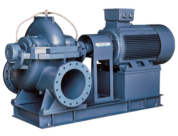 PSCM series horizontal split case pump driven by electric motor from purity pump for water supply