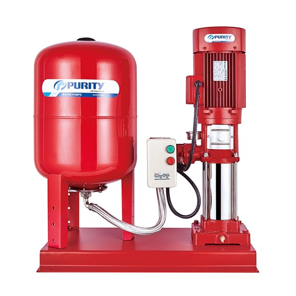 PVT series vertical jockey pump with pressure tank for fire fighting from purity pump